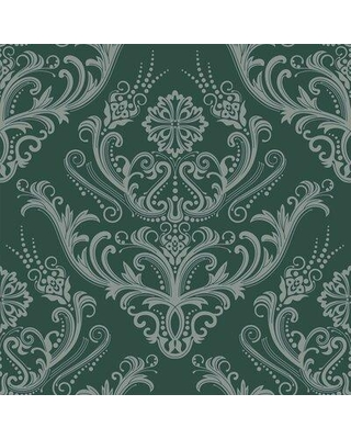 The Best Sales For House Of Hampton Renton Basic Removable Peel Stick Wallpaper Panel Fabric In Green Matte Size 24 W X 48 L Wayfair