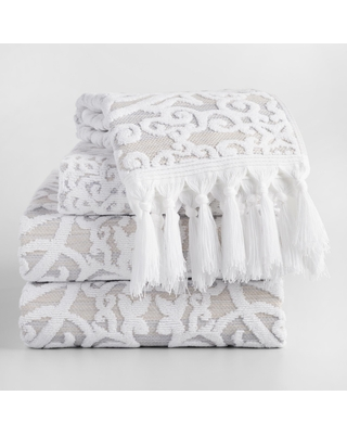 Taupe Medallion Scarlett Sculpted Towel Collection by World Market