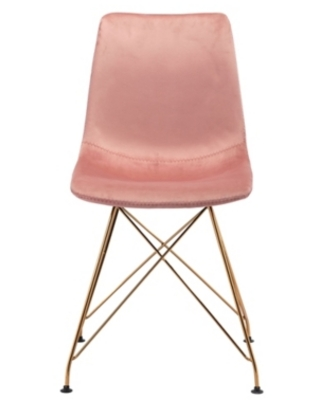 Zuo Modern Parker Dining Chair (Set of 4), Pink