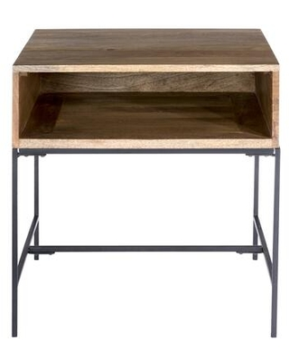 Colvin Collection SR-1026-24 Side Table with Iron Base in Natural