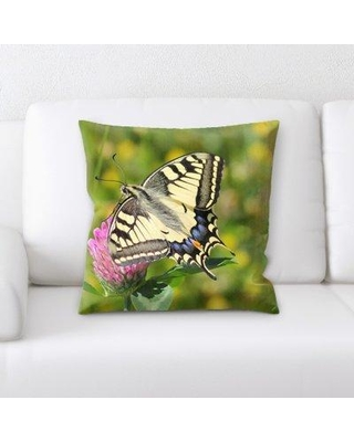 East Urban Home Swallowtail Butterfly Throw Pillow W000244455