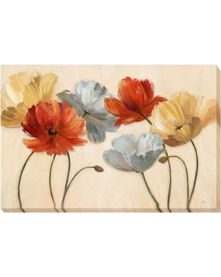 Artistic Home Gallery 'Poppy Palette Revisited' by Nan Painting Print on Wrapped Canvas 1624179LG