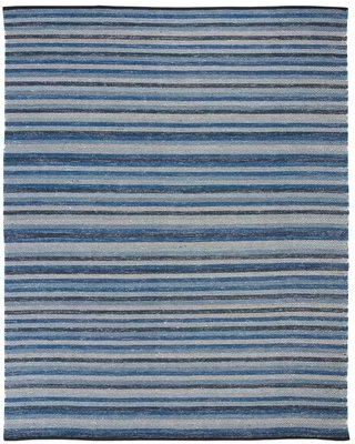 Breakwater Bay Voshell Hand-Woven Wool Blue Area Rug BRWT2690 Rug Size: Rectangle 8' x 10'