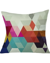 """Gray Three Of The Possessed Modele Throw Pillow (20""""x20"""") - Deny Designs, Multi-Colored"""