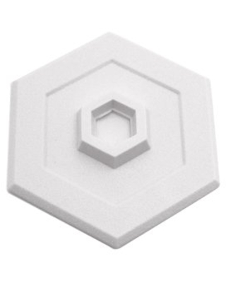 Prime-Line Products U 9275 Wall Protector, 5-Inch Hexagon, Self-Adhesive, White Vinyl