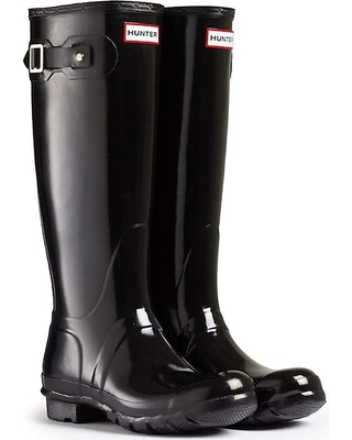 f52954c1fee Special Prices on Hunter Women's Original Tall Gloss Boot - 6 - Black