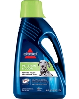 Bissell 2X Pet Stain & Odor 60oz. Upright Carpet Cleaner Formula, Blue Clear