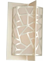 "Miramar 14"" High Rose Silver 2-Light Wall Sconce"