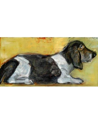 """Marmont Hill 'Hush Puppy' by Tori Campisi Painting Print on Wrapped Canvas MH-TORI-03-C Size: 22.5"""" H x 45"""" W"""