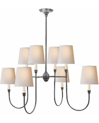 Visual Comfort and Co. Thomas O'Brien Vendome 36 Inch 8 Light Chandelier - TOB 5008AS-NP