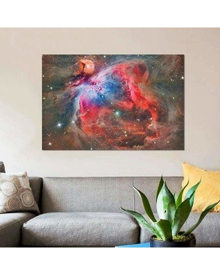 """East Urban Home 'The Orion Nebula (NGC 1976)' By Reinhold Wittich Graphic Art Print on Wrapped Canvas EBHR9979 Size: 18"""" H x 26"""" W x 1.5"""" D"""
