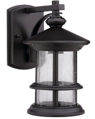 Chloe Lighting CH0152-ORB-OSD1 10.13-Inch Tall Transitional 1-Light Oil Rubbed Bronze Outdoor Wall Sconce