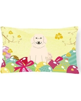 The Holiday Aisle® Easter Eggs Great Pyrenese Lumbar PillowPolyester/Polyfill/Polyester/Polyester blend, Size 12.0 H x 16.0 W x 3.0 D in   Wayfair