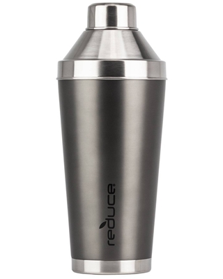 Reduce 20oz Insulated Stainless Steel Cocktail Shaker - Charcoal