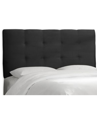 Skyline Furniture Shelby California King Micro-Suede Upholstered Headboard in Black