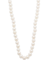 Masako Pearls 8-8.5MM White Pearl & 14K Yellow Gold Necklace