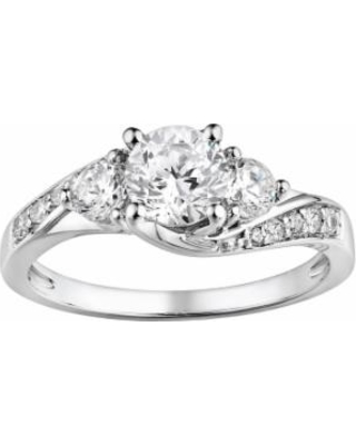 DiamonLuxe Sterling Silver 1.65-ct. T.W. Simulated Diamond Swirl Ring, Women's, Size: 7, White