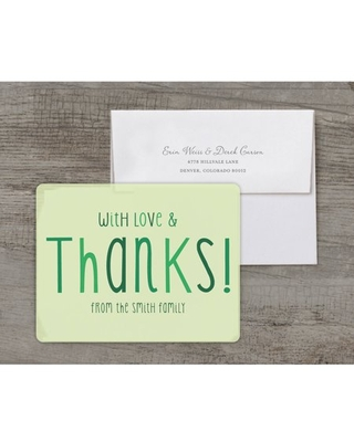 Party Fun Deluxe Birthday Thank You Card