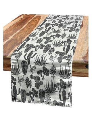 Great Prices For East Urban Home Floral Table Runner Polyester In Beige Gray Size 16 H X 16 W X 90 D Wayfair 7b08d64c2d034793859cf6d1d951cca0