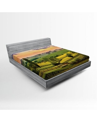 Nature Fitted Sheet East Urban Home Size: Queen