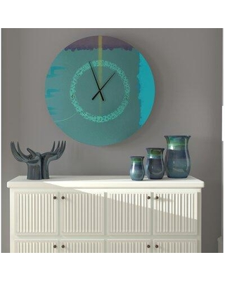 East Urban Home Oversized Moline Wall Clock X113139359 Size: Small