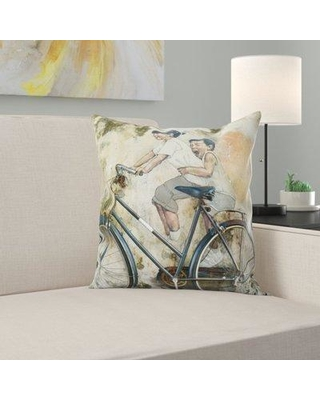 East Urban Home Bicycle Throw Pillow W000261897