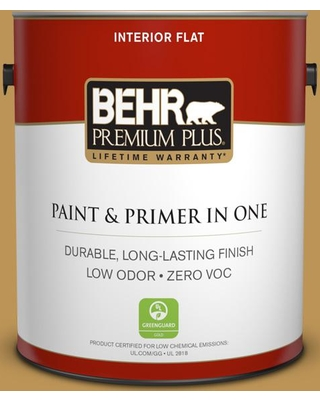 BEHR PREMIUM PLUS 1 gal. #T12-5 Lone Star Flat Low Odor Interior Paint and Primer in One