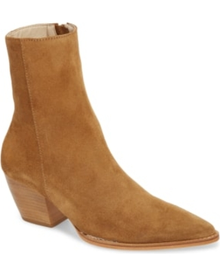 Women's Matisse Caty Western Pointy Toe Bootie, Size 10 M - Brown