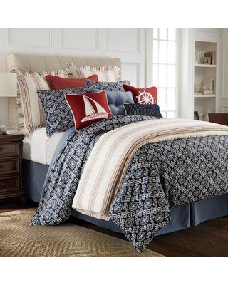 Longshore Tides Elida 4 Piece Duvet Cover Set LNTS3731 Size: Super Queen