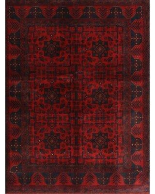 Deals For Bloomsbury Market Hermila Traditional Dark Red Black Area Rug X112889558 Rug Size Rectangle 5 X 7