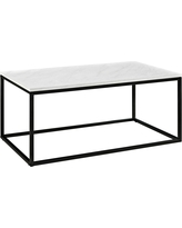 42 Open Box Coffee Table - Marble - Saracina Home