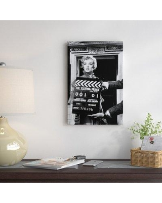 """East Urban Home Radio Days 'Marilyn Monroe on the Set of the Sleeping Prince' Photographic Print on Canvas ESUR3229 Size: 40"""" H x 26"""" W x 0.75"""" D Format: Wrapped Canvas"""