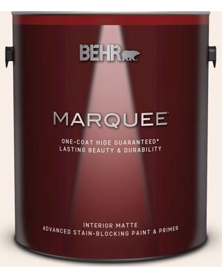 BEHR MARQUEE 1 gal. #M210-1 Seed Pearl Matte Interior Paint and Primer in One