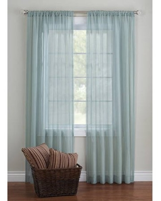 Better Homes and Gardens Elise Woven Stripe Sheer Window Panel Collection