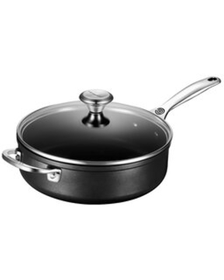 Toughened Nonstick PRO Saute Pan with Helper Handle & Glass Lid
