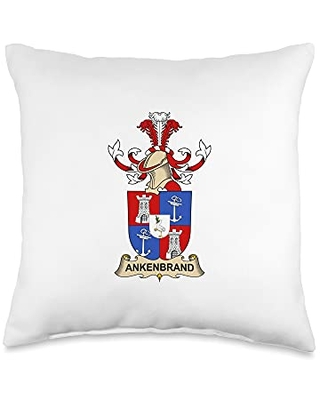 Family Crest and Coat of Arms clothes and gifts Ankenbrand Coat of Arms - Family Crest Throw Pillow, 16x16, Multicolor