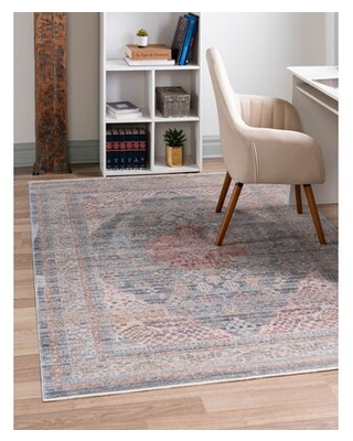 """Gilead Traditional Blue/Beige Rug Three Posts™ Rug Size: Rectangle 2'2"""" x 3'"""