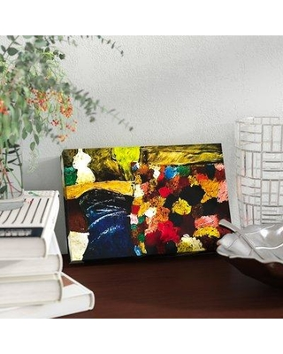 """Ebern Designs 'Delaney' Painting Print On Wrapped Canvas EBND1038 Size: 8"""" H x 12"""" W x 2"""" D"""