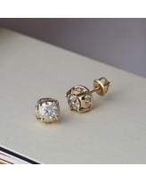 2ct TDW Diamond Stud Earrings in 14k Gold by De Couer (Yellow - Yellow)