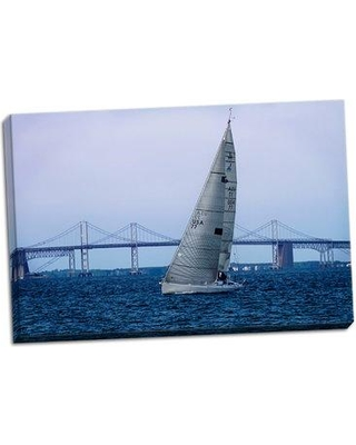 Breakwater Bay 'Sailing At Dusk II' Photographic Print on Wrapped Canvas BF056205