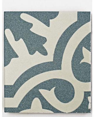 New Deal On Merola Tile Take Home Sample Berkeley Blue 9 In X Ceramic And White Low Sheen