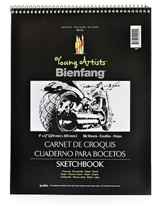 Bienfang Young Artists Sketchbooks 9 In. X 12 In. 36 Sheets [Pack Of 6] (6PK-220004),Size: med
