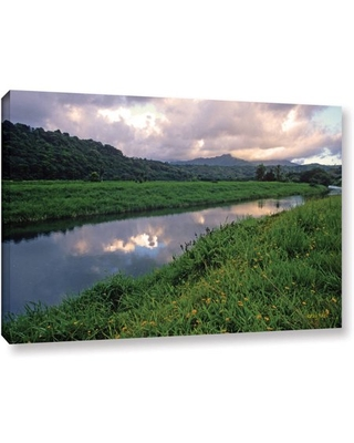 """ArtWall Kathy Yates """"Hanalei River Reflections"""" Gallery-Wrapped Canvas"""