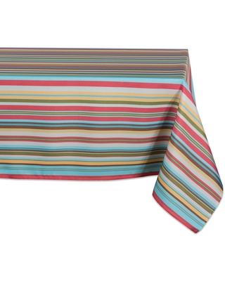 """120""""x60"""" Summer Stripe Outdoor Tablecloth -Design Imports"""