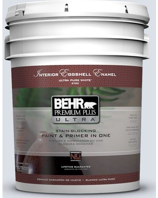 BEHR Premium Plus Ultra 5 gal. #ppl-70 Eastern Breeze Eggshell Enamel Interior Paint and Primer in One