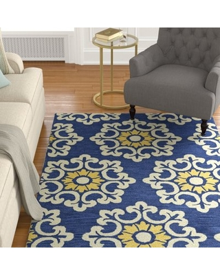 Tunstall Hand-Tufted Blue Area Rug Darby Home Co Rug Size: Rectangle 9' x 12'