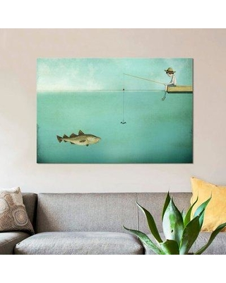 "East Urban Home 'Fish' Graphic Art Print on Canvas ESUH5479 Size: 12"" H x 18"" W x 0.75"" D"