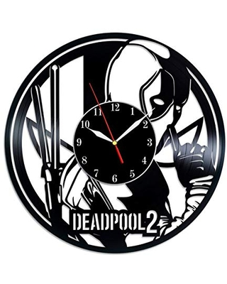 Deadpool Vinyl Record Wall Clock, Deadpool Wall Art, Deadpool 2 Decor, Deadpool Gifts, Marvel Art