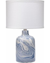 Jamie Young Atmosphere Blue and White Swirl Ceramic Table Lamp