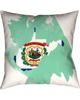 Spectacular Deals On East Urban Home Centers Washington State Flag Pillow In Poly Twill Double Sided Print Throw Pillow Polyester Polyfill Polyester Polyester Blend